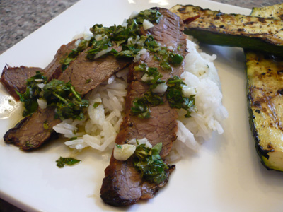 Flank Steak Salad With Chimichurri Dressing Recipe — Dishmaps