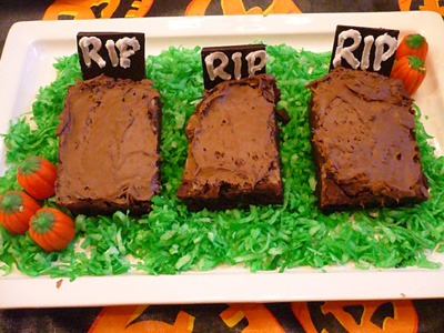 Tombstone Brownies Tombstone brownies: