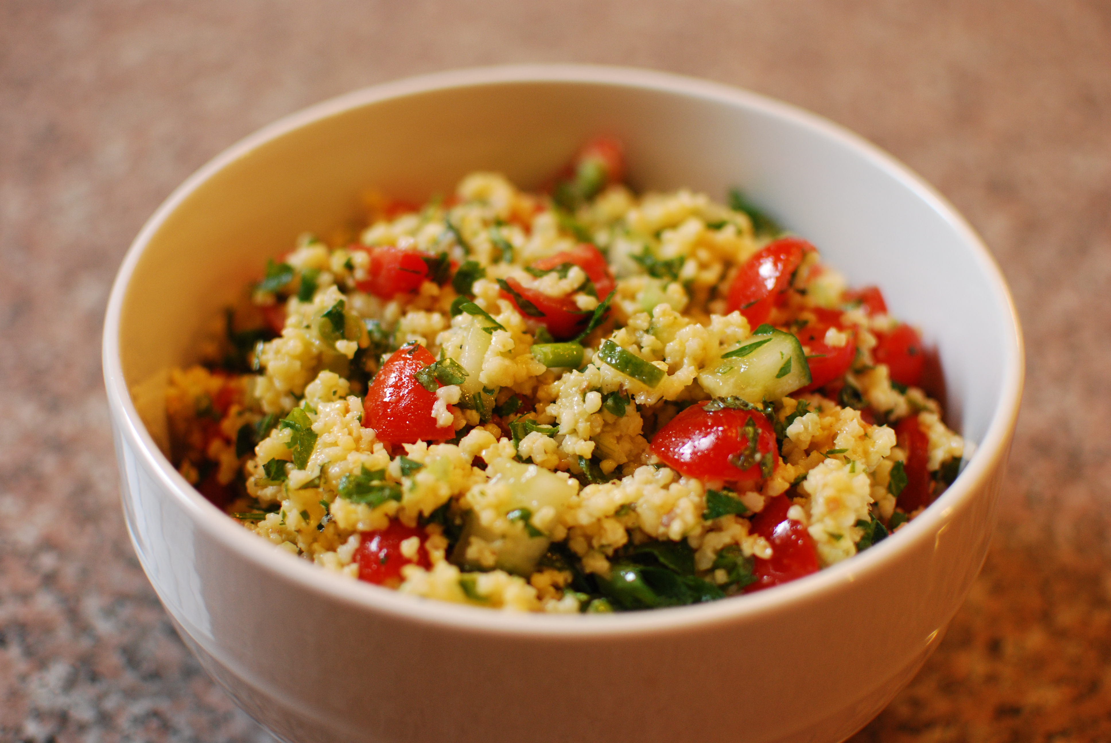 Middle eastern the cookbook smasher our love for middle eastern food continues with this delicious tabbouleh made with millet berries weve never had millet berries before but its kind of forumfinder Images